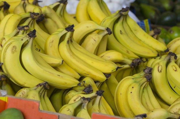 Hand of Ripe Bananas
