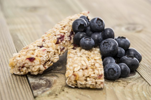 Muesli Bars with fresh Blueberries
