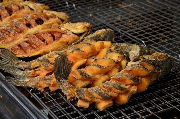 Snake-head fish deep Fried and Tilapia Fish deep Fried