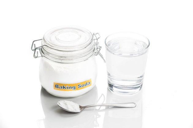 Baking soda with glass of water for multiple holistic usages
