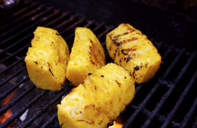 grill scenes - grilled pineapple