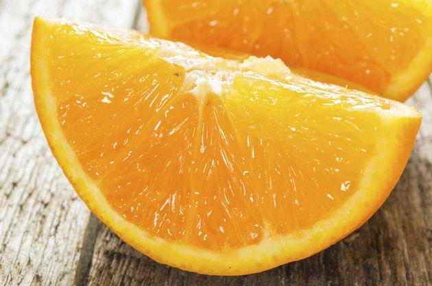 fresh cut oranges