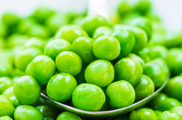 Green peas background.