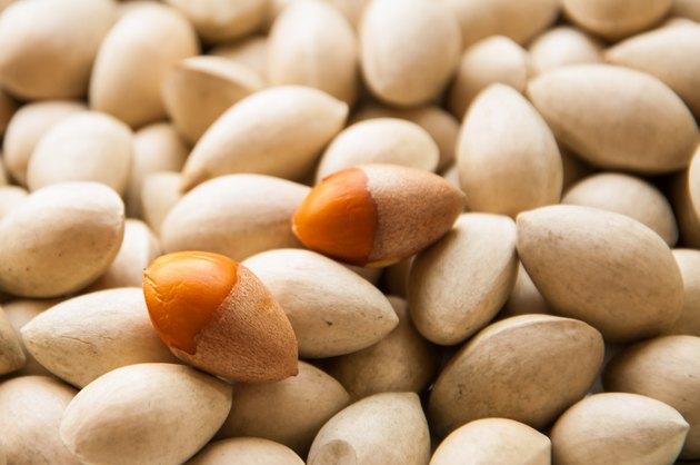 Ginkgo biloba seed in Thai food market, Ginkgo seeds background