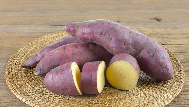 Fresh yam  on wooden  background
