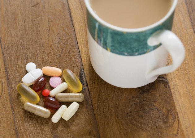 Collection of vitamins and supplements