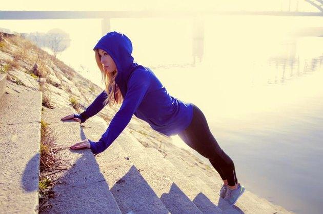 Women, Sport, Push-ups, Athlete, Exercising, fit, adult, female, lifestyle
