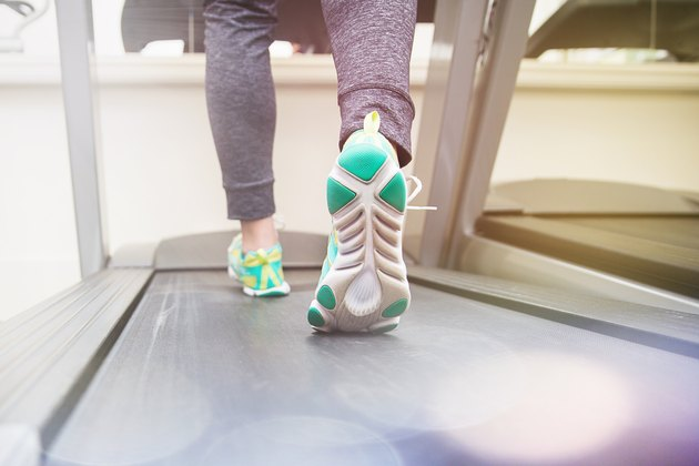 Marching on a treadmill