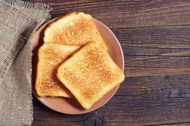 Slices of toast bread
