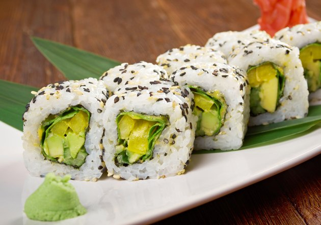 sushi with vegetables