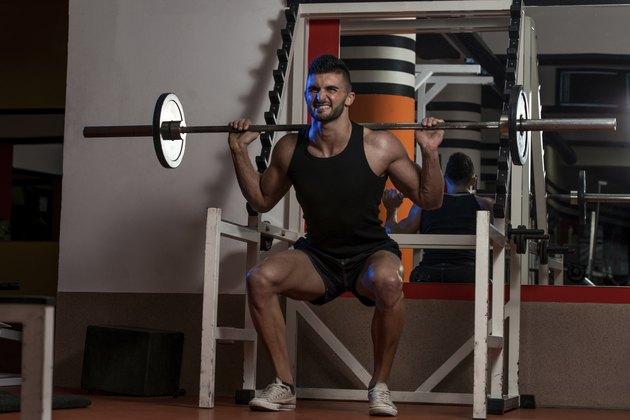 Men Doing Squats