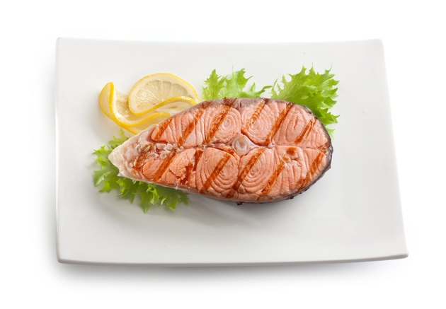 Grilled salmon stake