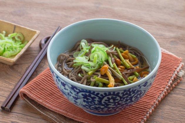 Japanese cuisine, Sansai Soba Noodles