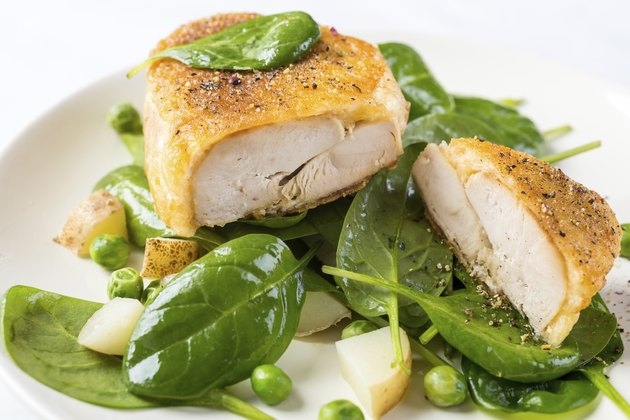 Parmesan Chicken with Spring Vegetables