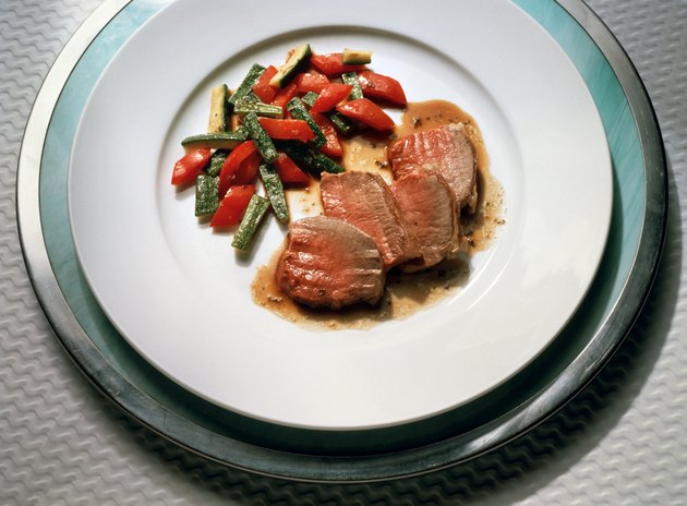 Saddle of Lamb with Vegetables
