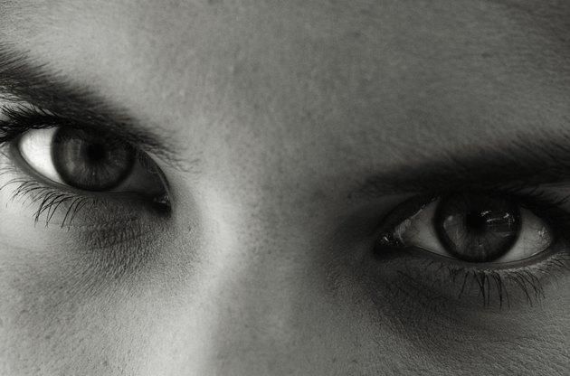 Woman's eyes, close-up