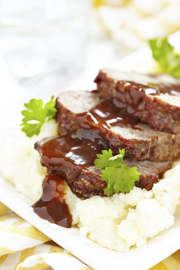 Meatloaf with brown sauce