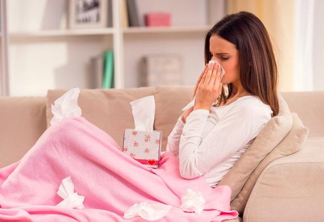 Young illness woman