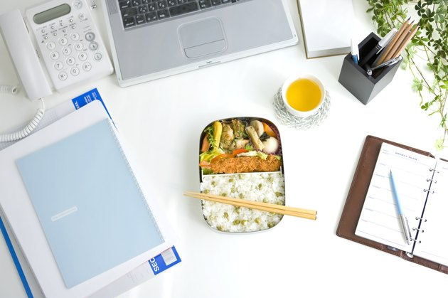 Bento box (Lunch box) on a desk