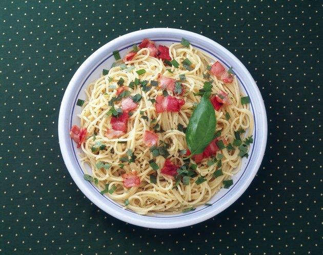 Spaghetti, High Angle View