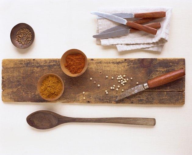 Coriander, paprika and turmeric