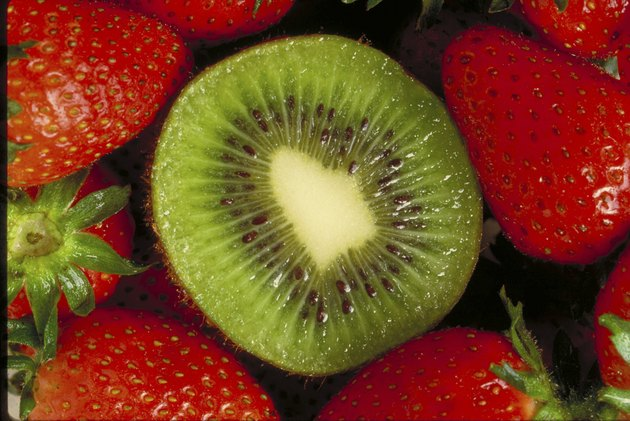 Kiwi and strawberries