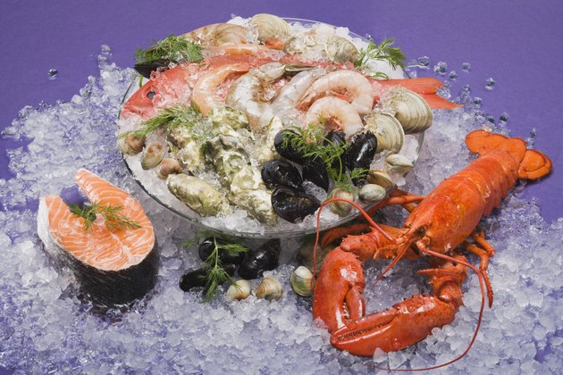 Assortment of seafood