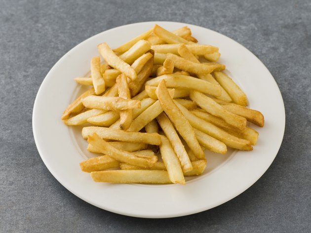 Fries on a plate