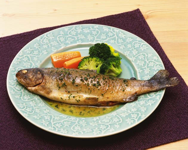 Fish Dish in Western Style, High Angle View