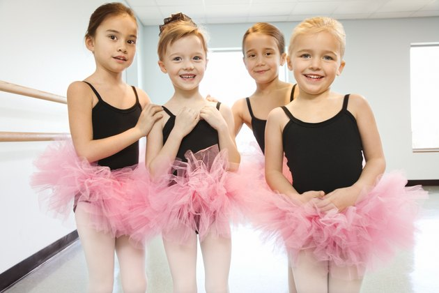 Portrait of girls in ballet class