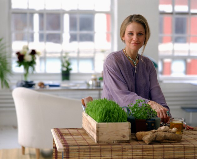 Woman with natural remedies