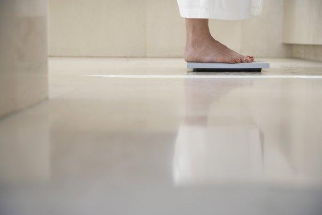 Woman on a Bathroom Scale