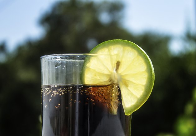 Cold cola with Lime