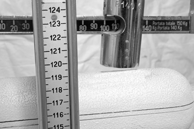 scale with the meter to measure the weight and height