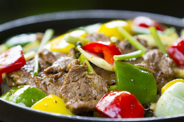 fried beef with bell pepper