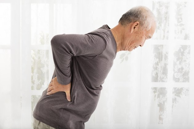 senior man with Pain in back