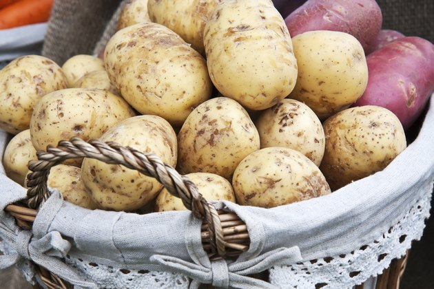 Fresh new potatoes