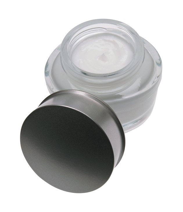 Jar of cream, with lid