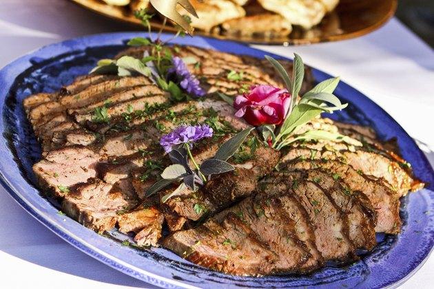 Tri-tip on a platter