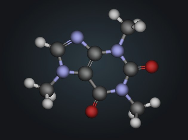 Molecular structure of caffeine