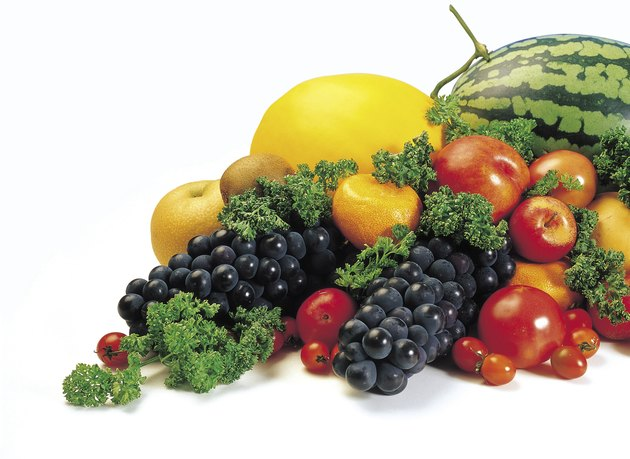 Variety of produce