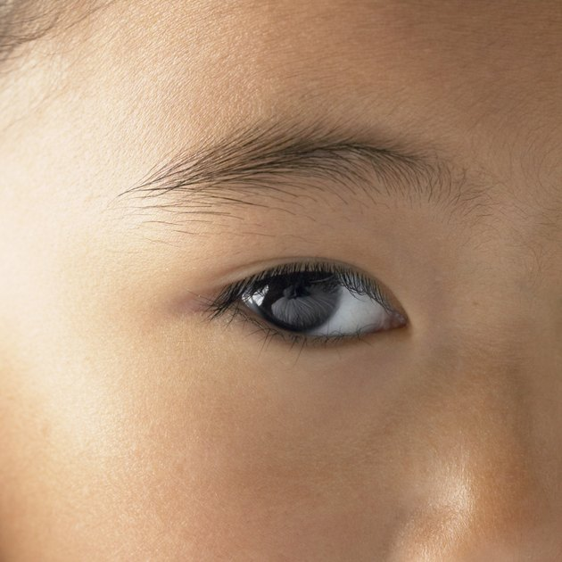 Close-up of a girl's eye