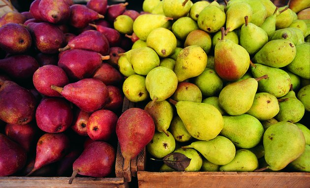Pears, two varieties