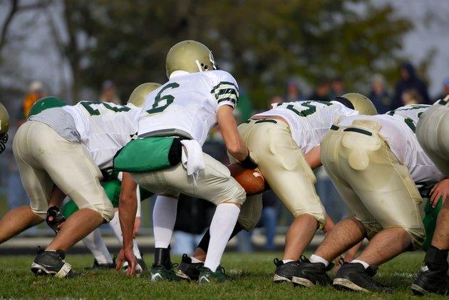 American football, quarterback and center.