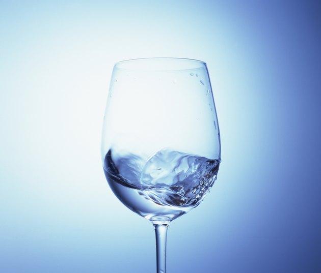 Water swirling in a wineglass