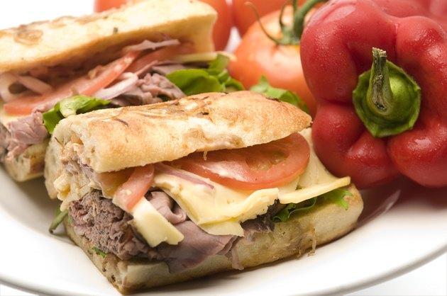 gourment roast beef sandwich