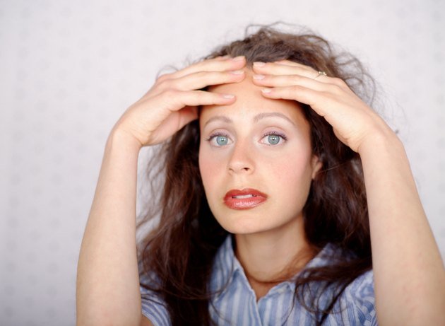 Woman with stressed look