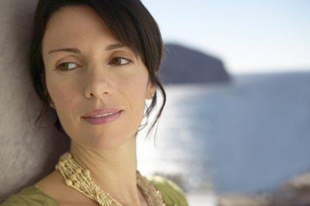 Outdoor Headshot Portrait of a Mature Woman