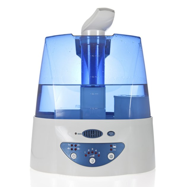 Humidifier with ionic air purifier isolated on white