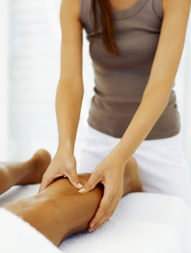 massage therapist giving a massage